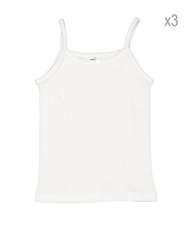PRINCESA Pack x 3 Camiseta Tirantes Niña Basic