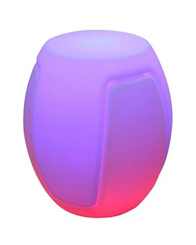 Purline Mueble Multifuncional Con Luz Ambiental Led Pack-Tabú Blanco Translúcido
