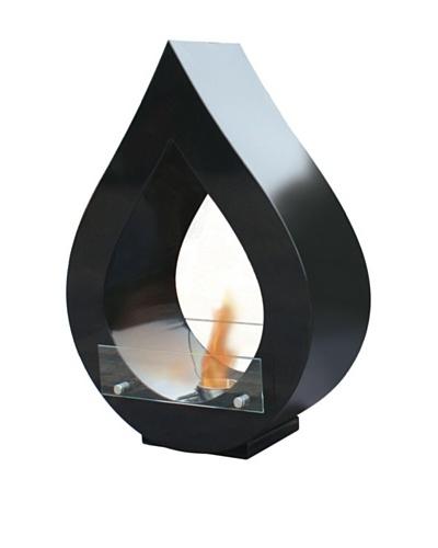 Purline Biochimenea De Suelo En Forma De Llama Color Negro Atenea B