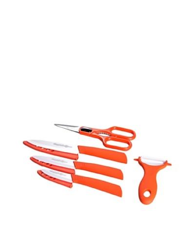 QUTTIN Set de 5 Cuchillos Cerámicos Supreme Naranja