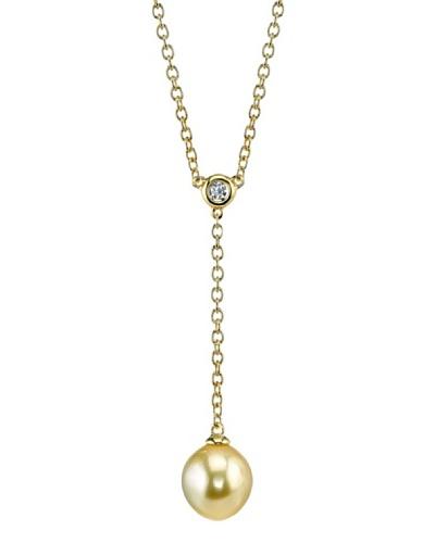 Radiance Pearl Collar Solitaire-Yg Dorado