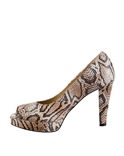 Cortefiel Peep Toe Python
