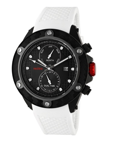 Red Line RL10119 – Reloj de Caballero movimiento de cuarzo con correa de caucho Blanco