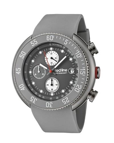 Red Line RL50038GM014GY – Reloj de Caballero movimiento de cuarzo con correa de caucho Gris