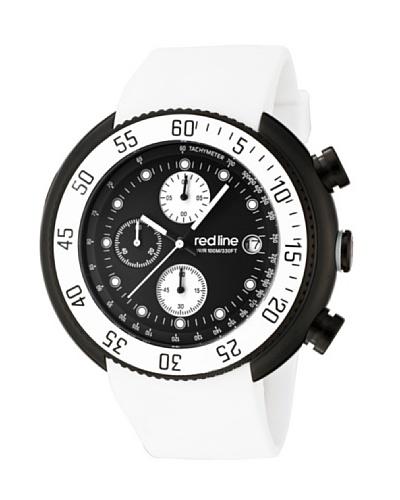 Red Line RL50038BB01WHT - Reloj de Caballero movimiento de cuarzo con correa de caucho Blanco