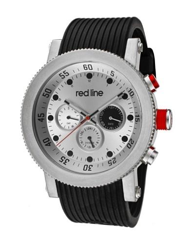Red Line RL1810102 - Reloj de Caballero movimiento de cuarzo con correa de caucho Negro