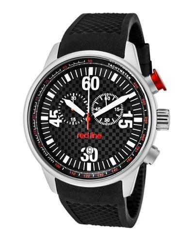 Red Line RL10103 – Reloj de Caballero movimiento de cuarzo con correa de caucho Negro