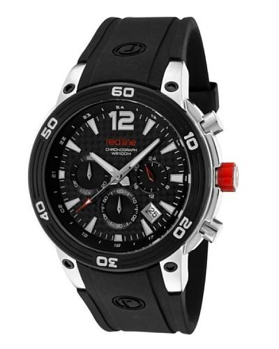 Red Line RL5003301 - Reloj de Caballero movimiento de cuarzo con correa de caucho Negro