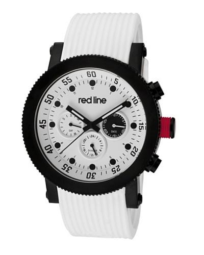 Red Line RL1810102BBWHTST - Reloj de Caballero movimiento de cuarzo con correa de caucho Blanco