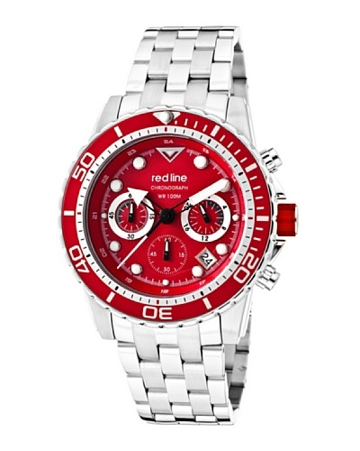 Red Line RL5003455RDBZ – Reloj de Caballero movimiento de cuarzo con brazalete metálico Metálico