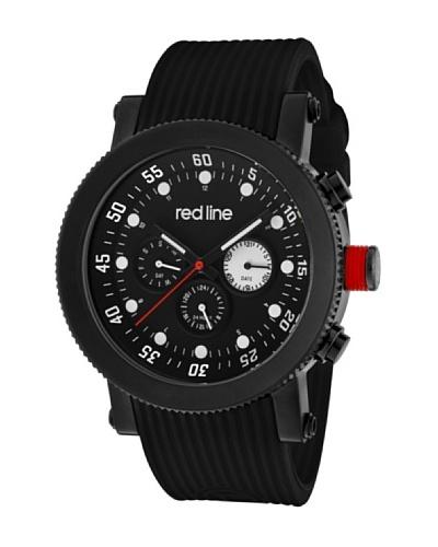 Red Line RL1810101BB – Reloj de Caballero movimiento de cuarzo con correa de caucho Negro