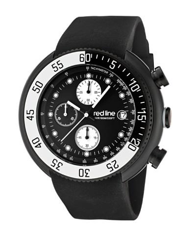 Red Line RL50038BB01WBBZ – Reloj de Caballero movimiento de cuarzo con correa de caucho Negro