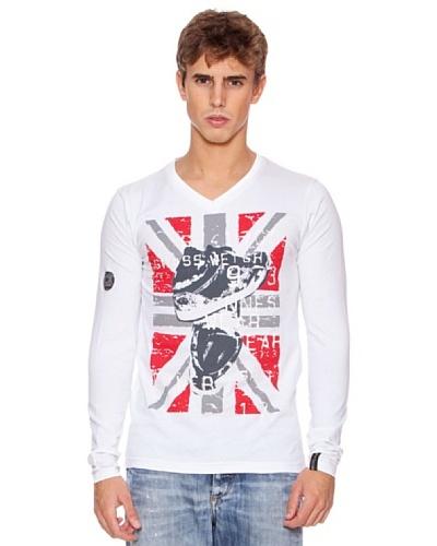 Rexton Camiseta Pico Con Print Blanco