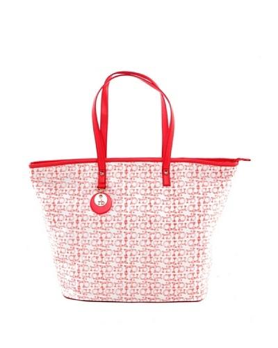 Roccobarocco Bolso Textil Blanco / Rojo