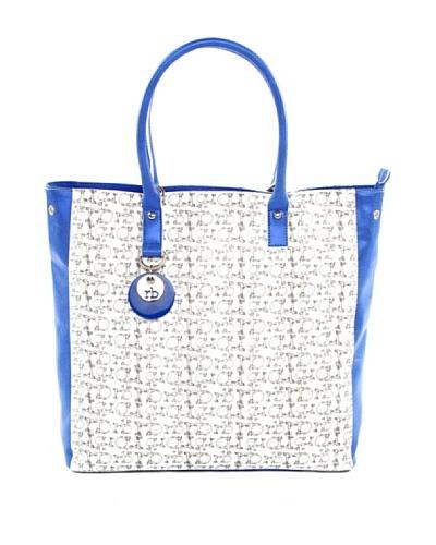 Roccobarocco Bolso Textil Blanco / Azul