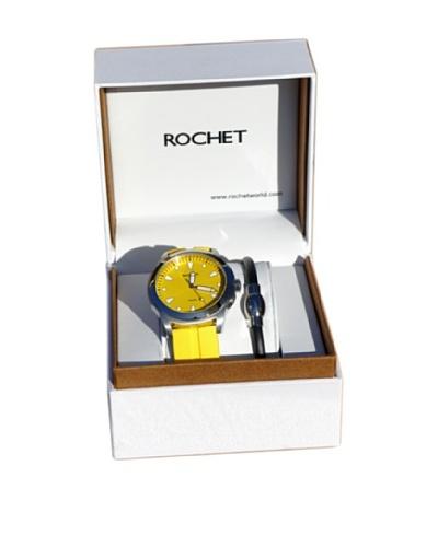 Rochet W506198 Reloj de Caballero movimiento de cuarzo con correa de plástico amarillo