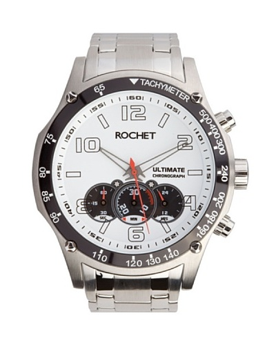 Rochet W104023 - Reloj de Caballero movimiento de cuarzo con brazalete metálico Metálico