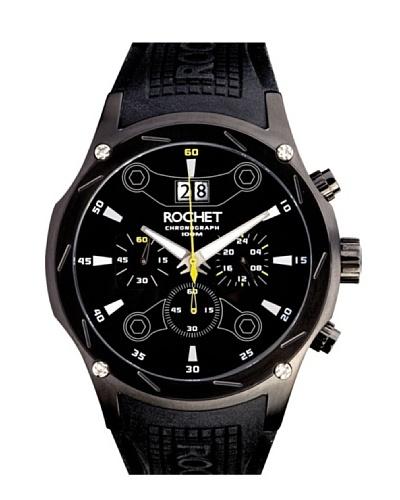 Rochet W107118 - Reloj de Caballero movimiento de cuarzo con correa de caucho Negro