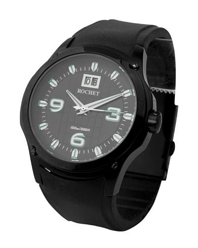 Rochet W021811 - Reloj de Caballero movimiento de cuarzo con correa de caucho Negro