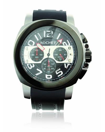Rochet W104428 Reloj de Caballero movimiento de cuarzo con correa de caucho negro