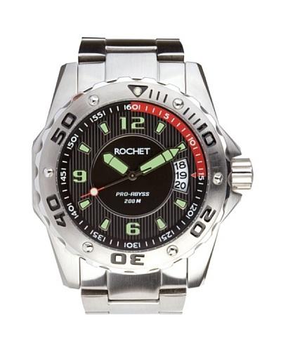 Rochet W501413 - Reloj de Caballero movimiento de cuarzo con brazalete metálico Negro