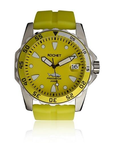 Rochet W505098 Reloj de Caballero movimiento de cuarzo con correa de plástico amarillo