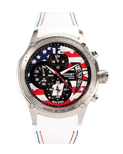Rochet W108015LE - Reloj de Caballero movimiento cuarzo con correa de piel Blanco