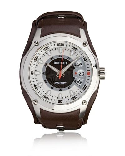 Rochet W205022 Reloj de Caballero movimiento de cuarzo con correa de piel marrón