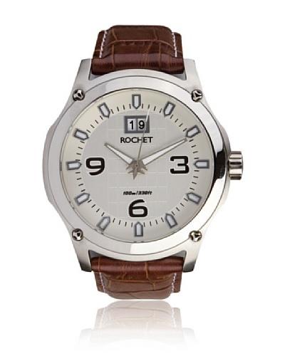 Rochet W403025 Reloj de Caballero movimiento de cuarzo con correa de piel marrón