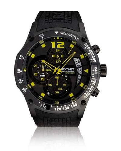 Rochet W105118 Reloj de Caballero movimiento de cuarzo con correa de caucho negro
