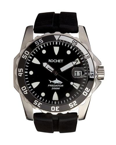 Rochet W505081 - Reloj de Caballero movimiento de cuarzo con correa de caucho Negro