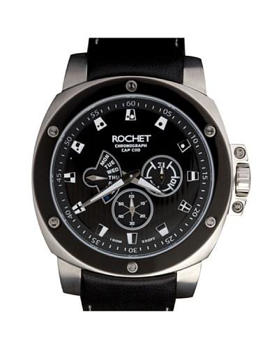 Rochet W306015 - Reloj de Caballero movimiento cuarzo con correa de piel Negro