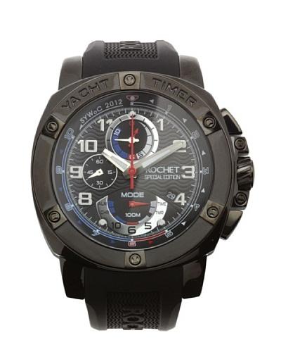 Rochet W307418 - Reloj de Caballero movimiento de cuarzo con correa de caucho Negro