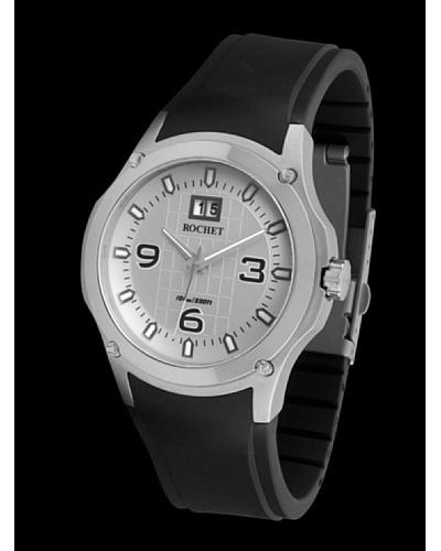 Rochet W020821 - Reloj de Caballero movimiento de cuarzo con correa de caucho Negro