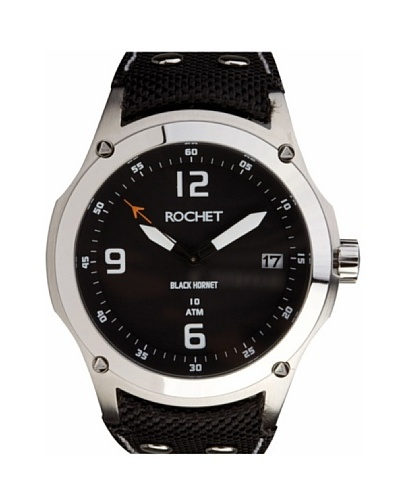 Rochet W603018 - Reloj de Caballero movimiento cuarzo con correa de piel Negro