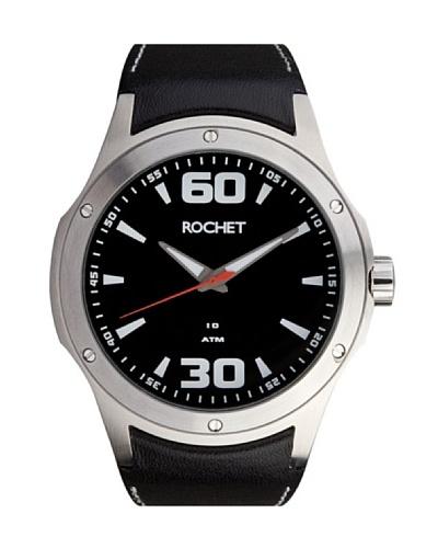 Rochet W405015 - Reloj de Caballero movimiento cuarzo con correa de piel Negro