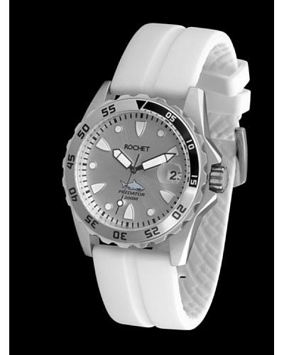 Rochet W505028 - Reloj de Caballero movimiento de cuarzo con correa de caucho Blanca