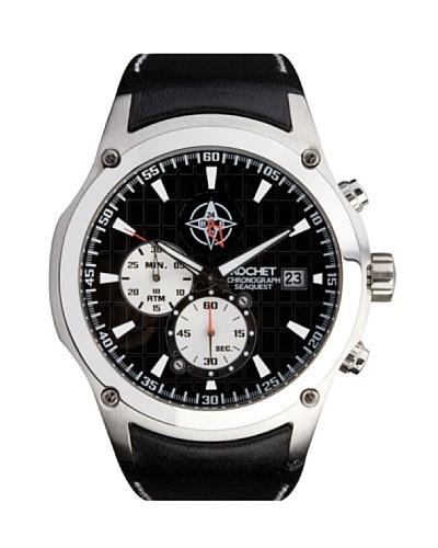 Rochet W302015 - Reloj de Caballero movimiento cuarzo con correa de piel Negro