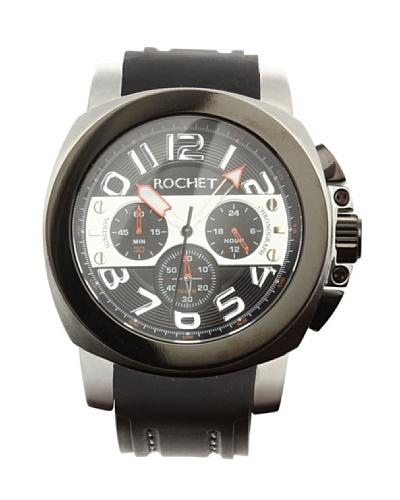 Rochet W104428 - Reloj de Caballero movimiento de cuarzo con correa de caucho Negro