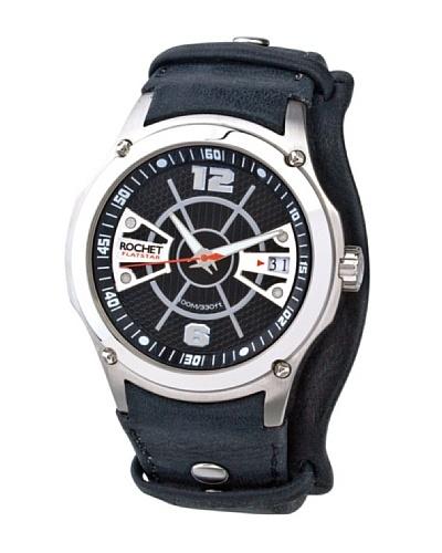 Rochet W202012 - Reloj de Caballero movimiento cuarzo con correa de piel Negro