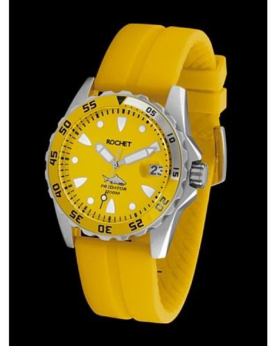 Rochet W505098 - Reloj de Caballero movimiento de cuarzo con correa de caucho Amarillo