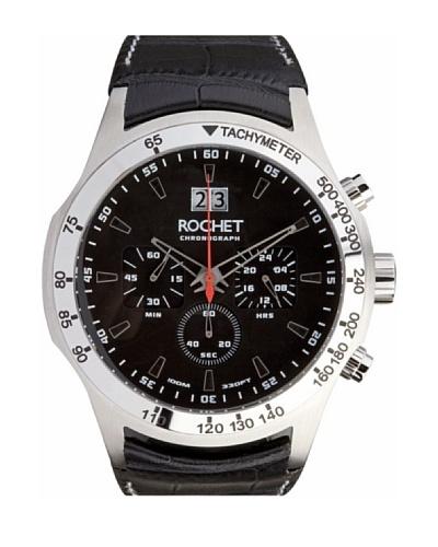 Rochet W403015 - Reloj de Caballero movimiento cuarzo con correa de piel Negro