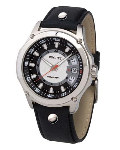 Rochet W205015 - Reloj de Caballero movimiento cuarzo con correa de piel Negro