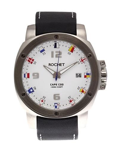 Rochet W307025 - Reloj de Caballero movimiento cuarzo con correa de piel Negro