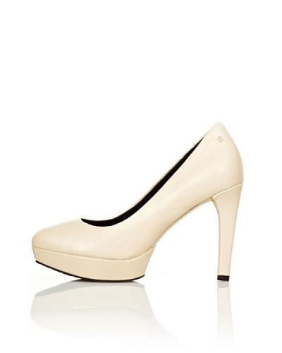 Rockport Zapatos de Salón Plataforma Janae Crema