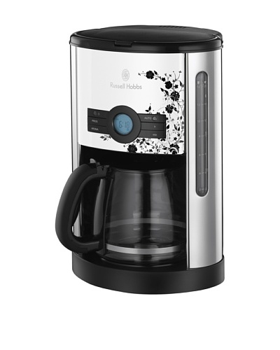 Rusell Hobbs Cottage Floral cafetera de goteo 1000 W 12 tazas/1,8 L LCD temporizador
