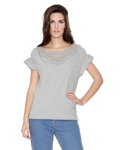 Naf Naf Camiseta Crochet
