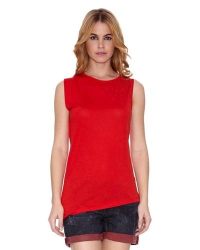 Salsa Camiseta Cains con Piedras Rojo