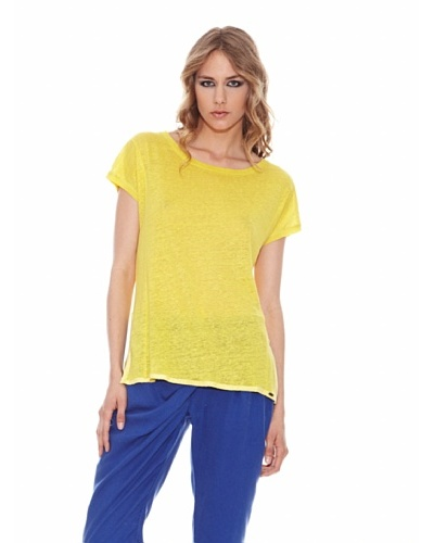 Salsa Camiseta Jaspeada Amarillo