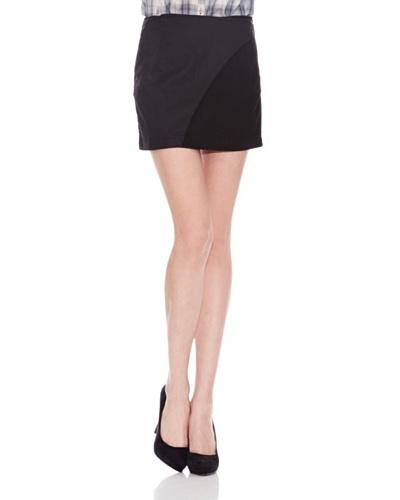 Salsa Minifalda Vaquera Negro